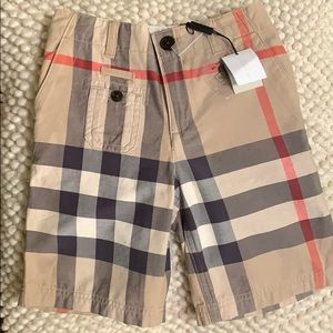 Brand new boys size 7y Burberry shorts.